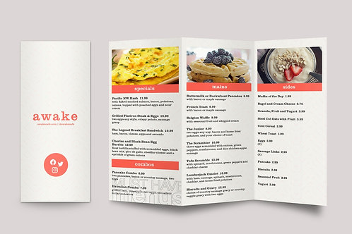FOLDED MENU DESIGN