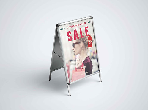 A-FRAMES, DISPLAY BOARDS & PAVEMENT SIGNS DESIGN SERVICE