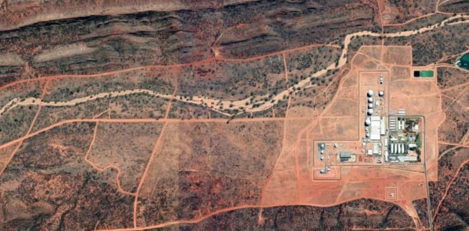 Pine Gap, taken from Google Maps.