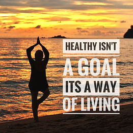 Healthy motivational quotes on the sunse