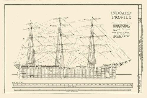 California: Tall Ship Balclutha, 1886 (Inboard Profile)