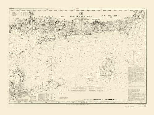 New York: Eastern Long Island Sound including Block Island, 1855