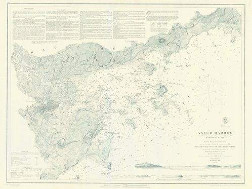 Massachusetts: Salem Harbor, 1869