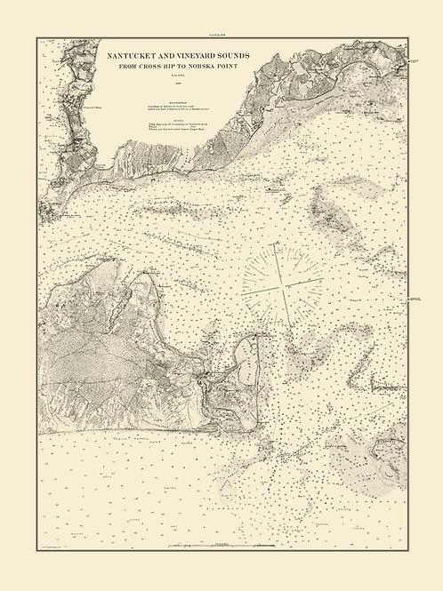 Massachusetts: Nantucket and Vineyard Sounds, 1883.