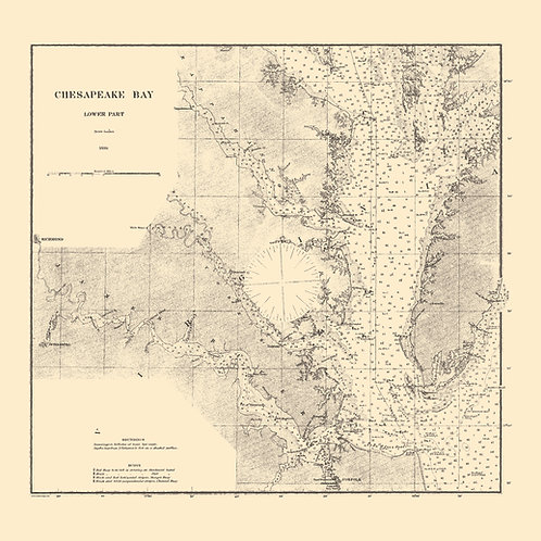 Maryland: Chesapeake Bay, Lower Part, 1880