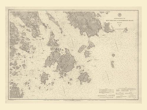 Maine: Blue Hill Bay and Eggemoggin Reach, including Mt. Desert Island, 1885
