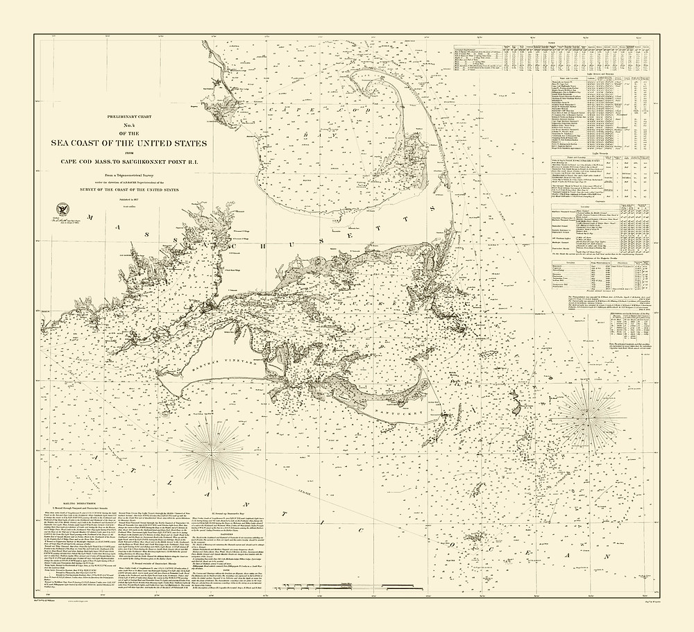 Sea Coast of the United States, from Cape Cod to Saughkonnet Point, Rhode Island, 1857