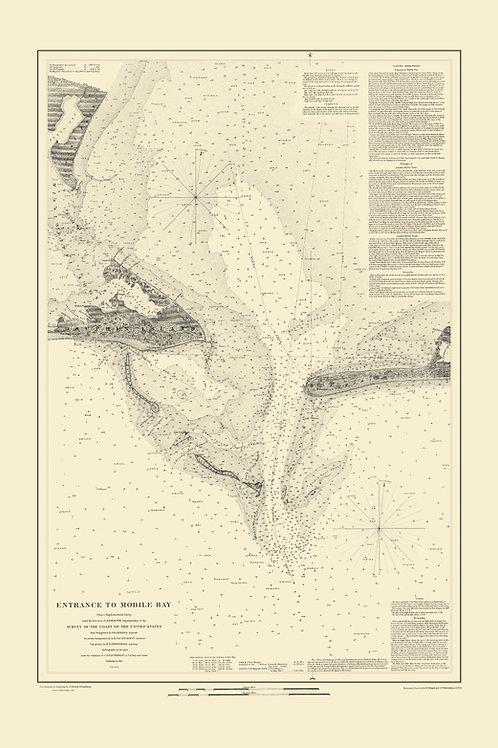 Alabama: Entrance to Mobile Bay, 1851