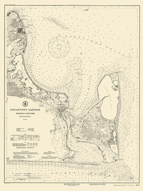 Massachusetts: Martha's Vineyard featuring Edgartown Harbor, 1902