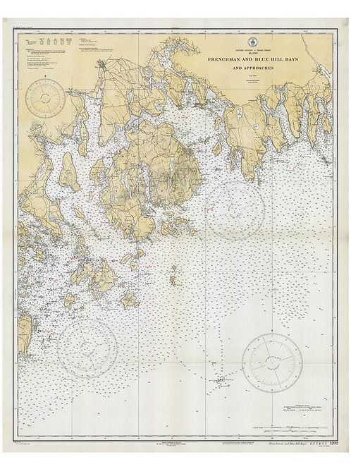 Maine: Frenchman and Blue Hill Bays and Approaches, 1932