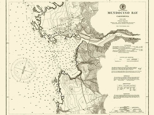 California: Mendocino Bay, 1874