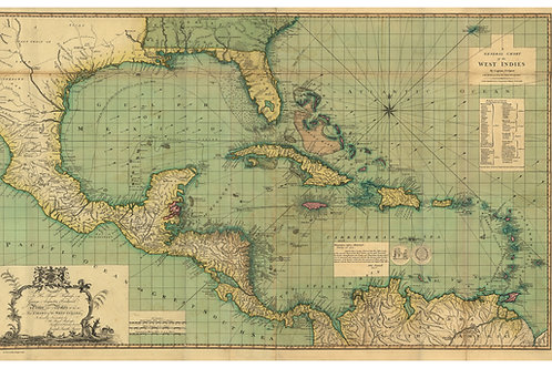 General Chart Of The West Indies, 1774