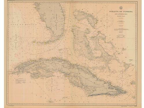 Florida: Straits including Cuba, 1900
