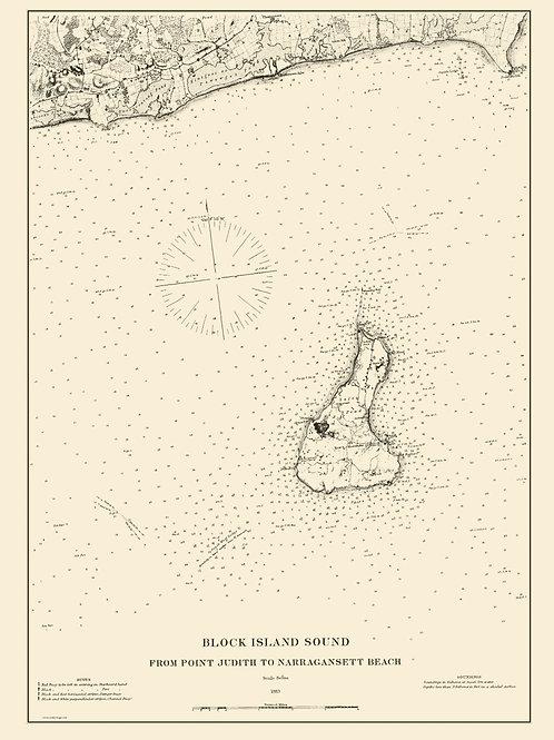 Rhode Island: Block Island Sound, 1883