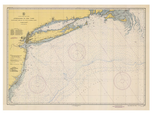 New York: Approaches to New York: Nantucket Shoals to Five Fathom Bank, 1944