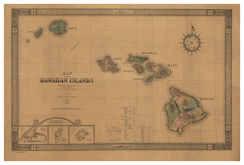 Hawaiian Islands, 1876