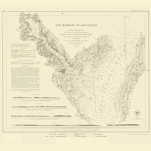 Maryland: Annapolis Harbor, 1846