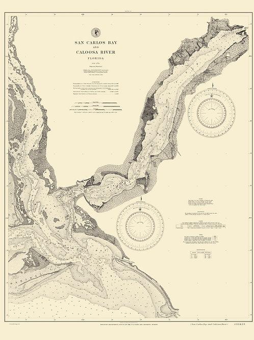 Florida San Carlos Bay and Caloosa River, 1896