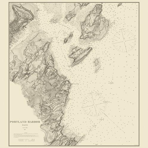 Maine: Portland Harbor, 1879