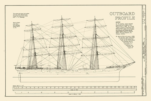 California: Tall Ship Balclutha, 1886 (Outboard Profile)
