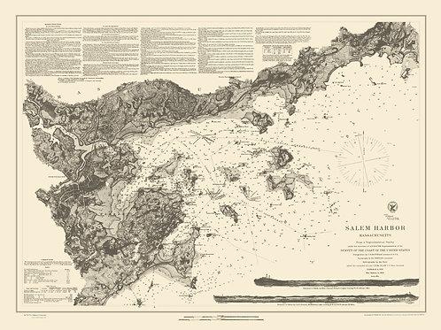Massachusetts: Salem Harbor, 1855