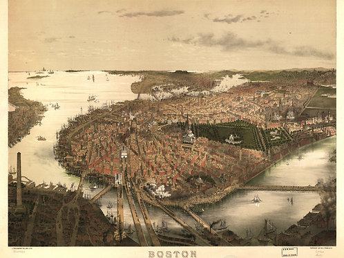 Massachusetts: Boston Harbor, 1877