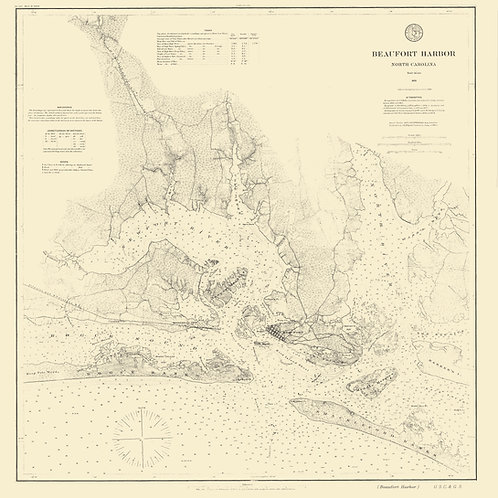 North Carolina: Beaufort Harbor, 1876