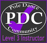 Pole Dance Community Level 3 instructor