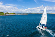 Yacht in Weymouth Bay