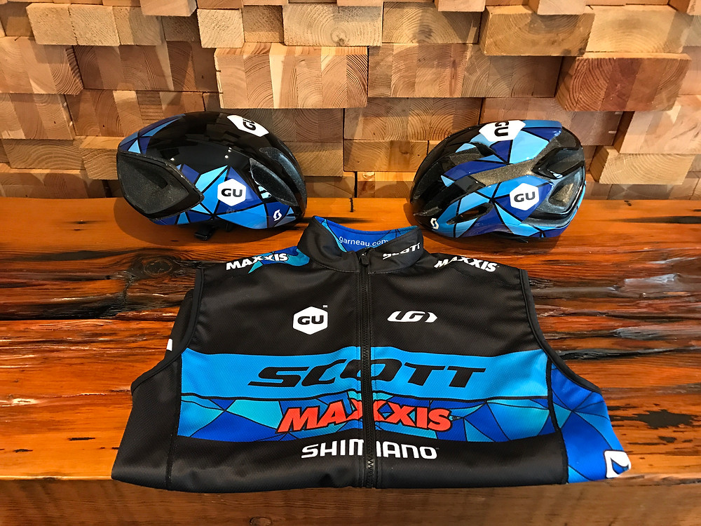 New Louis Garneau kit and custom painted lids.