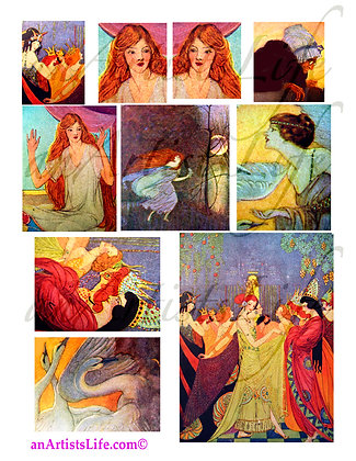 FairyTales Collage Sheet Digital Download
