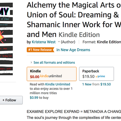 AMAZON NUMBER ONE! ALCHEMY MAGICAL ARTS, DREAMING & SHAMANISM