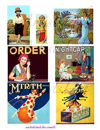 Figures Collage Sheet Digital Download