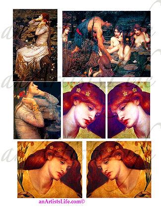 Vintage Women Collage Sheet Digital Download