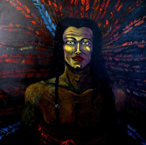 SunDancer Spirit of Sacrifice Painting with Meaning