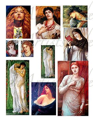 Women & Vixens Collage Sheet Digital Download