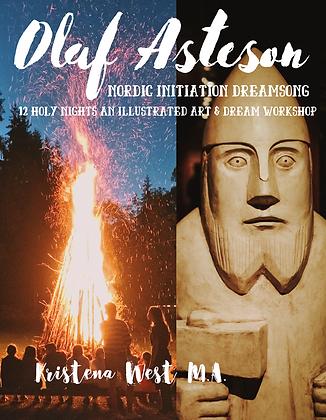 DREAMSONG OF OLAF ASTESON 12 HOLY NIGHTS ART & DREAM WORKSHOP BOOK