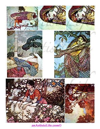 Rubaiyat 1 Collage Sheet Digital Download