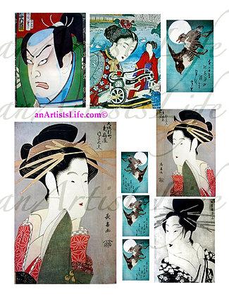 Japanese 1 Collage Sheet Digital Download