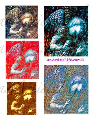 Angels Collage Sheet Digital Download