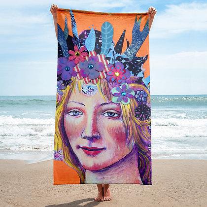 Bottecelli Collage Flora Goddess Throw Blanket Lifestyle Goddess Series