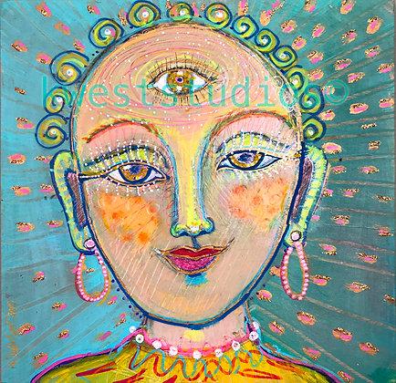 """Buddha Original Painting 10"""" x 10"""""""
