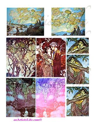 Rubaiyat 2 Collage Sheet Digital Download