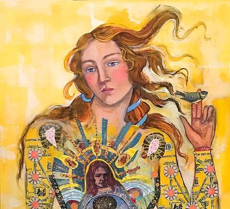 2' X 4' Sun Woman Transformation Original Painting