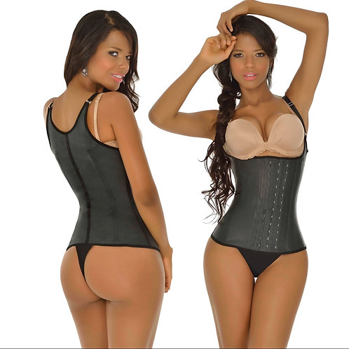 Corset bretelles ajustables 3 crans / Latex waist trainer with straps 3