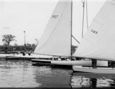 Three popular classes of one design boats raced consistently through the 1950's. Comets, Thistles and Stars.