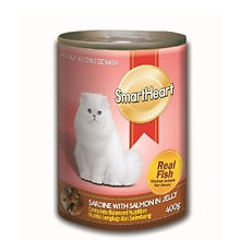 SMART HEART CAT CAN - SARDINE WITH SALMO