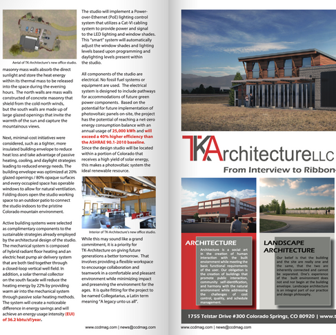 TKA Published Article in Colorado Construction & Design Magazine - 2020 Fall Edition