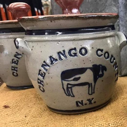 Chenango County Bean Pot with Lid made in the USA
