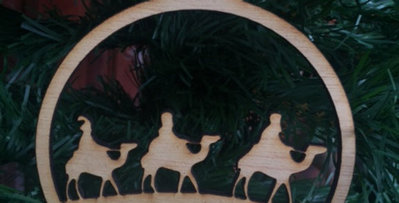 Wise Men Wooden Ornament